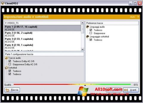 Képernyőkép CloneDVD Windows 10