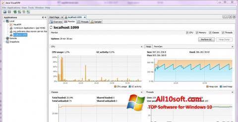 Képernyőkép Java Virtual Machine Windows 10