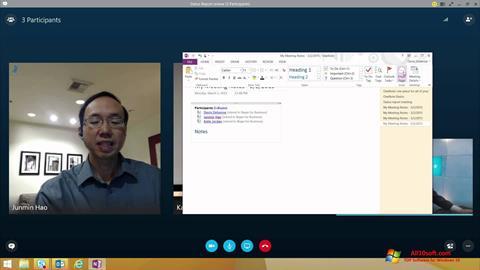 Képernyőkép Skype for Business Windows 10