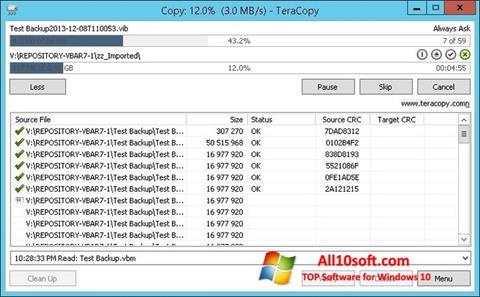 Képernyőkép TeraCopy Windows 10
