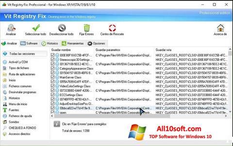 Képernyőkép Vit Registry Fix Windows 10