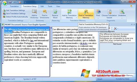 Képernyőkép PROMT Windows 10