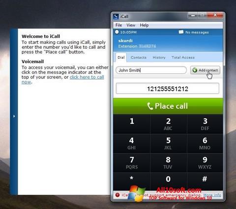 Képernyőkép iCall Windows 10