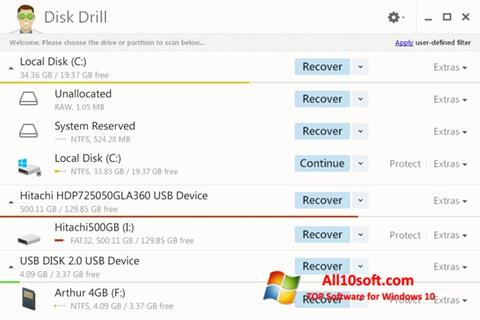 Képernyőkép Disk Drill Windows 10