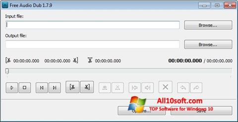Képernyőkép Free Audio Dub Windows 10
