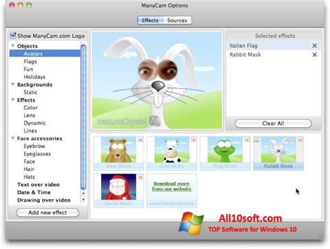 Képernyőkép ManyCam Pro Windows 10