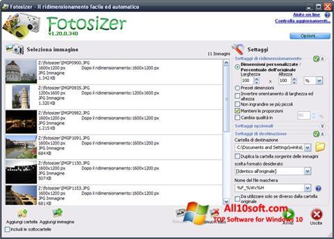 Képernyőkép Fotosizer Windows 10