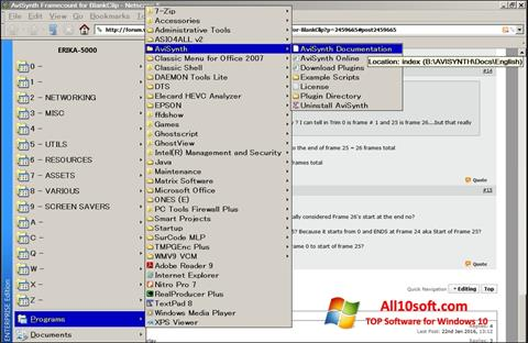 Képernyőkép AviSynth Windows 10