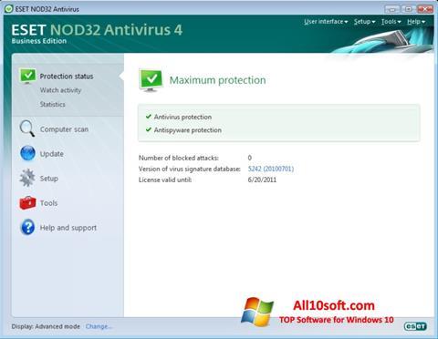Képernyőkép ESET NOD32 Windows 10