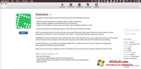 Képernyőkép Greenshot Windows 10