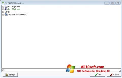 Képernyőkép KillCopy Windows 10