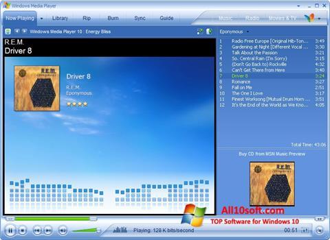 Képernyőkép Media Player Windows 10