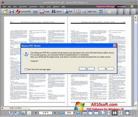 Képernyőkép Nuance PDF Reader Windows 10