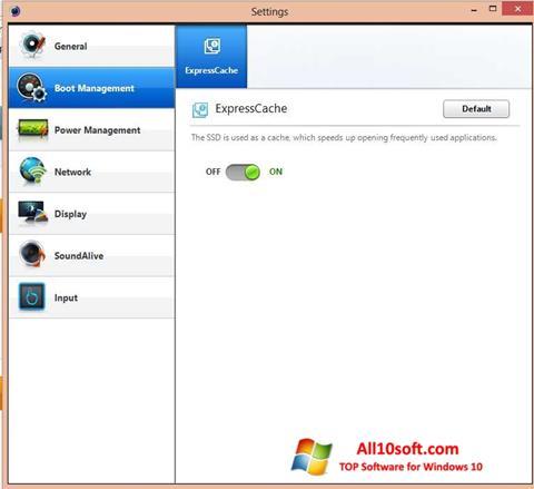 Képernyőkép Easy Settings Windows 10