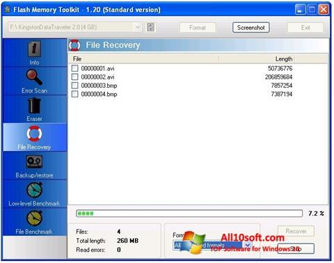 Képernyőkép Flash Memory Toolkit Windows 10