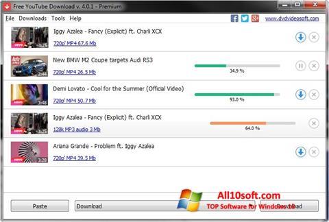 Képernyőkép Free YouTube Download Windows 10