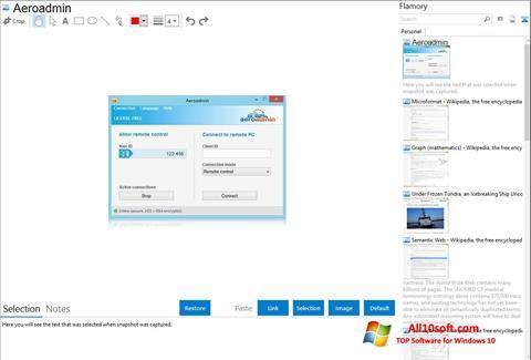 Képernyőkép AeroAdmin Windows 10