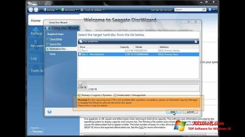 Képernyőkép Seagate DiscWizard Windows 10