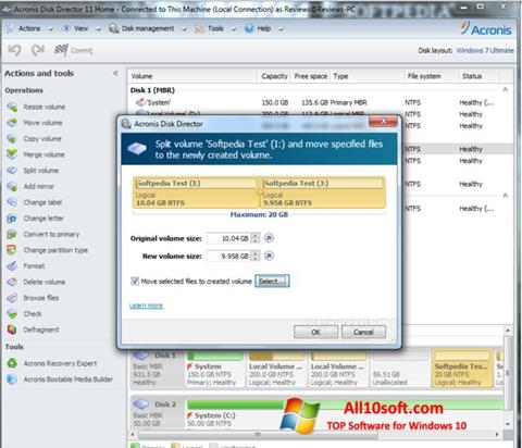 Képernyőkép Acronis Disk Director Suite Windows 10