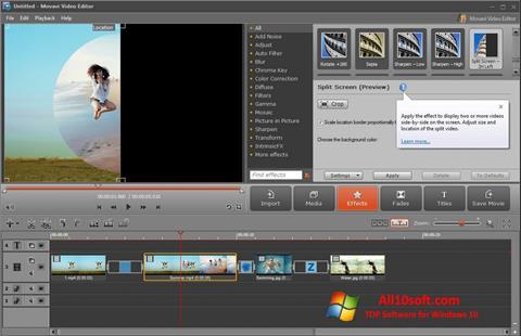 Képernyőkép Movavi Video Editor Windows 10