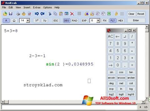 Képernyőkép RedCrab Calculator Windows 10
