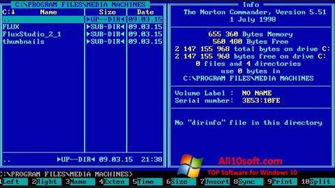 Képernyőkép Norton Commander Windows 10
