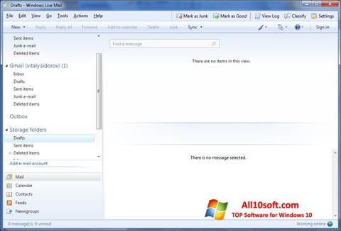 Képernyőkép Windows Live Mail Windows 10