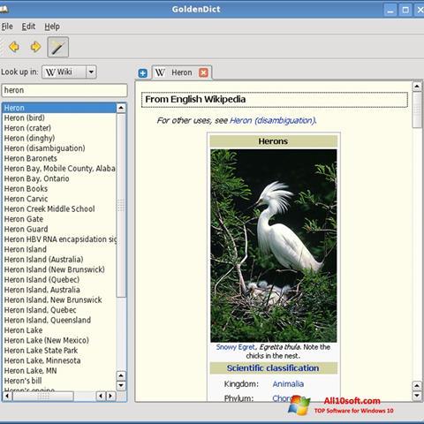 Képernyőkép GoldenDict Windows 10