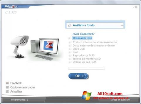 Képernyőkép PrivaZer Windows 10