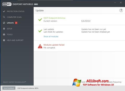 Képernyőkép ESET Endpoint Antivirus Windows 10