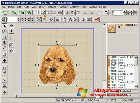 Képernyőkép Embird Windows 10