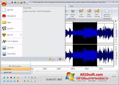 Képernyőkép Free Audio Editor Windows 10