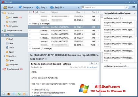 Képernyőkép FoxMail Windows 10