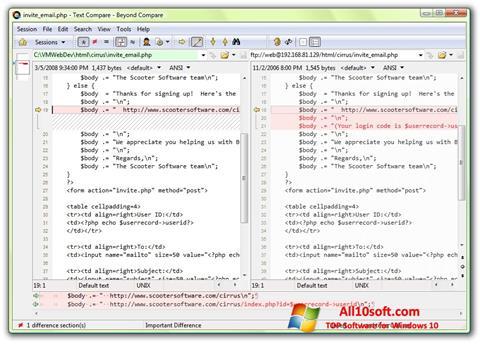 Képernyőkép Beyond Compare Windows 10