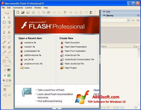 Képernyőkép Macromedia Flash Player Windows 10