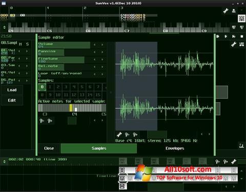 Képernyőkép SunVox Windows 10