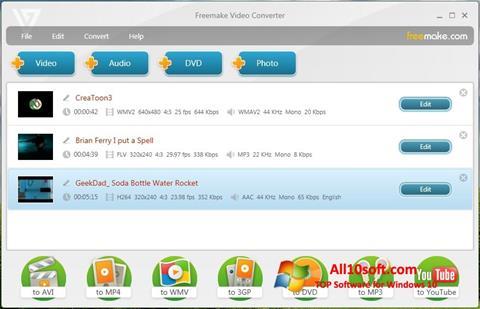 Képernyőkép Freemake Video Converter Windows 10