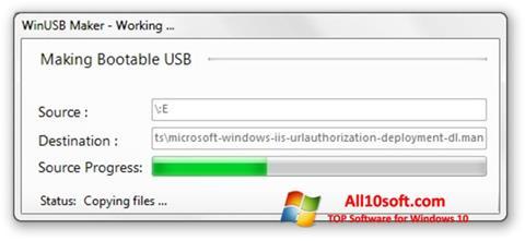 Képernyőkép WinUSB Maker Windows 10