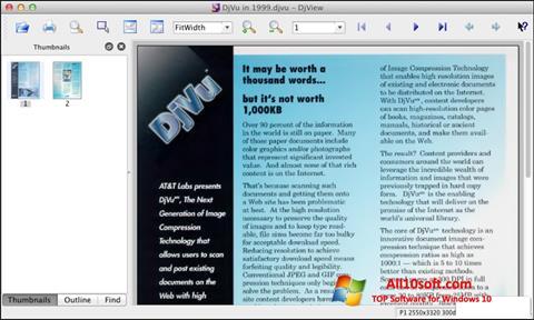 Képernyőkép DjView Windows 10