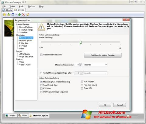 Képernyőkép Webcam Surveyor Windows 10