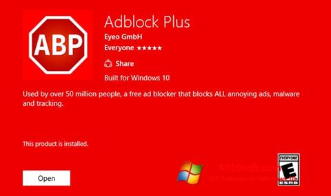 Képernyőkép Adblock Plus Windows 10