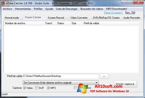Képernyőkép aTube Catcher Windows 10