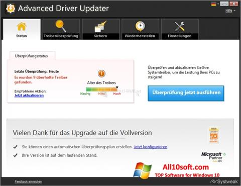 Képernyőkép Advanced Driver Updater Windows 10