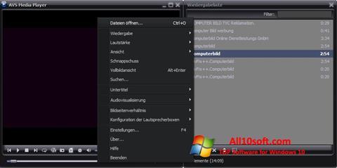 Képernyőkép AVS Media Player Windows 10