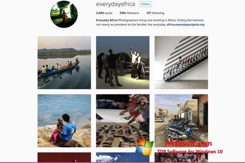 Képernyőkép Instagram Windows 10