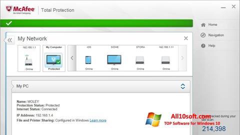 Képernyőkép McAfee Total Protection Windows 10