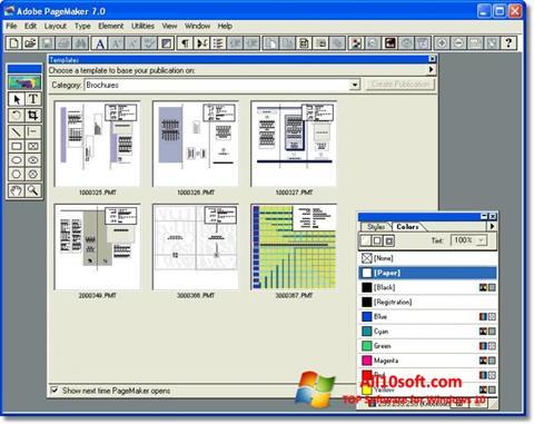Képernyőkép Adobe PageMaker Windows 10