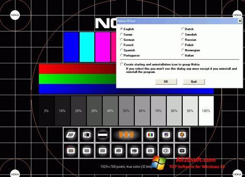 Képernyőkép Nokia Monitor Test Windows 10