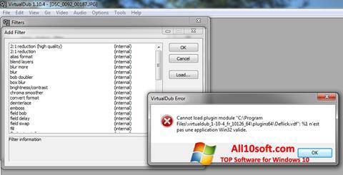 Képernyőkép VirtualDub Windows 10