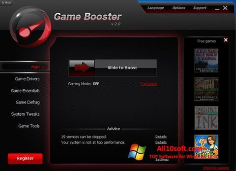 Képernyőkép Game Booster Windows 10